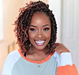 Fulcrum Pre-Twisted Passion Twist Crochet Hair 10 Inch, 8 Packs Pre Looped...