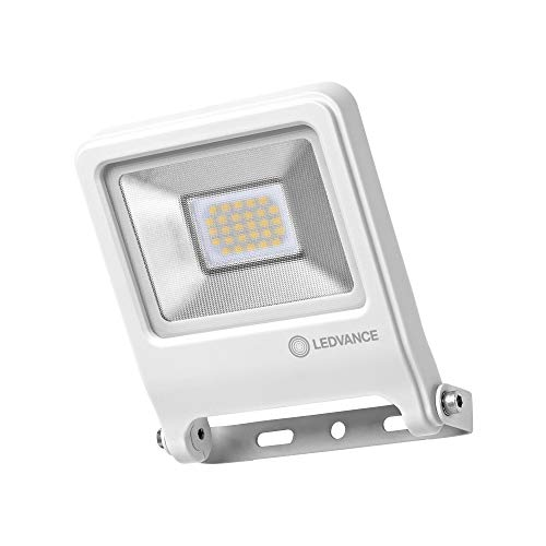 LEDVANCE Endura Flood LED | Projecteur Extérieur | Blanc | 20 Watts - 1600 Lumens | Blanc Chaud 3000K | Etanche IP65