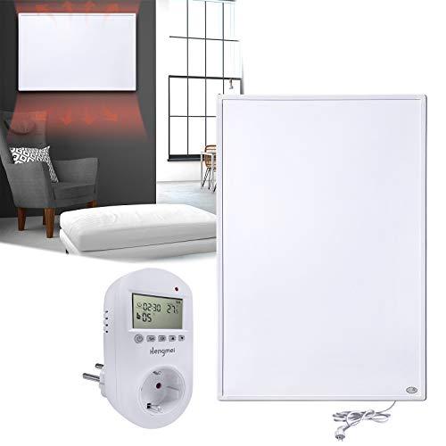 HENGMEI Infrarotheizung 800W mit Thermostat GS Tüv Prüfsiegel Wandheizung Elektroheizung Wand- Deckenmontage Überhitzungsschutz IP54 Schutz Heizpaneel