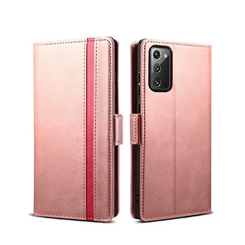 Rssviss Samsung Galaxy Note 20 Hülle, Handyhülle Samsung Galaxy Note 20 PU Leder Case [4 Kartenfächer] mit [Magnetverschluss] [Handy Ständer] Klapphülle Galaxy Note 20 Schutzhülle 6,7
