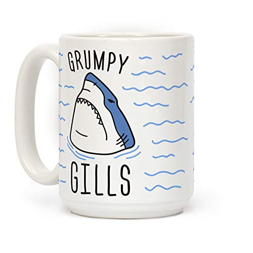 """""""Grumpy Gills"""" Shark Coffee Mug"""