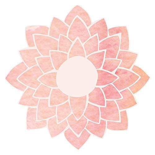 dekodino® Wandtattoo Indien Mandala Blume rosa Wandsticker Dekoration