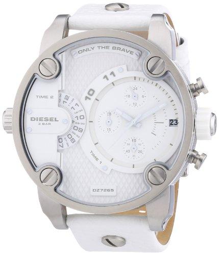 Diesel Herren-Armbanduhr XL SBA Chronograph Quarz Leder DZ7265