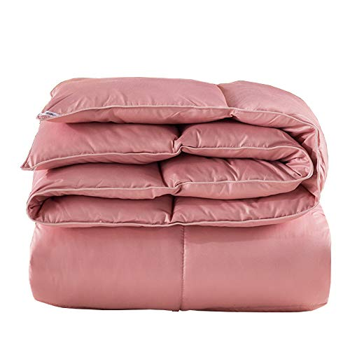 Comforters Silent Soft Silk Fabric Duvet, Washable And Not Easy Wrinkle Down Warm Goose Bedding Quilt, Lightweight Duvet For All Seasons With Four-corner Quilt Buckle ZX