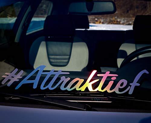 #Attraktief Aufkleber Frontscheibe Auto-Aufkleber Hologramm oil-slick Autoscene Öl Sticker