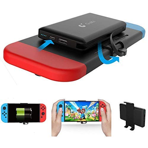 Home Care Wholesale 10000mAh Cargador Portátil de Energía del Banco - Cargador de Batería Extendida Recargable Caso - Paquete de Batería de Reserva de Viaje Compacto para Nintendo Switch