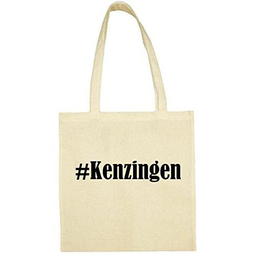 Kenzingen Hashtag Sac décole 38 x 42 cm en noir, blanc, rose, bleu, gris, jaune, rouge, vert, beige, beige (Beige) - Tasche_Hashtag_136527_natur