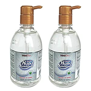 Panrosa Hand Sanitizer Gel with Pump, Alcohol-Free Washless Hand Soap Gel, Hydrating Hand Sanitizer Soothing Gel, Non-irritating 16.9 Fl.oz/Pack (2 Pack)