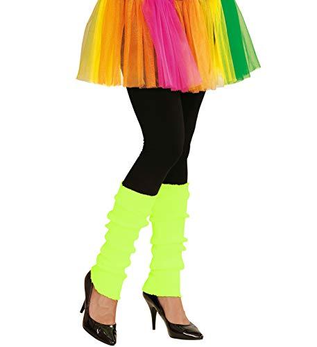 shoperama 80er Jahre Legwarmers Stulpen Neon Gelb Aerobic Work Out Gymnastik Bad Taste Trash Achtziger