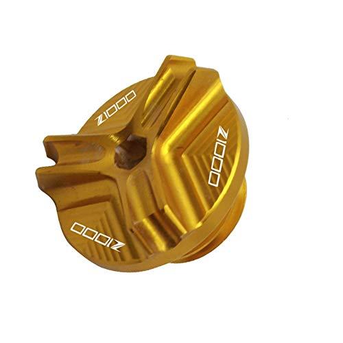 Kawasaki Z1000 / SX Z900 Z800 Z650 Versys 1000 VN650 ER6N / 250 SL M20 * 2,5 Motorradmotor Tankdeckel (Color : Z1000 Logo Gold)