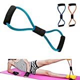 Emeret Multipurpose Resistance 8 Type Muscle Chest Expander Exerciser Rope for Workout Pulling Fitness