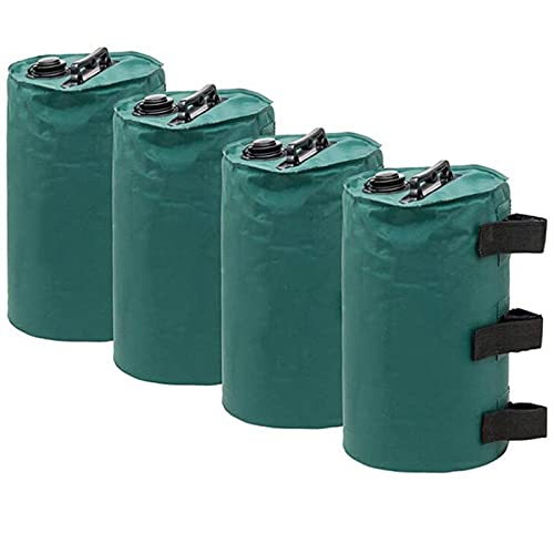 HXRZZG Paquete de 4 bolsas de agua para dosel, peso de las piernas, bolsas de arena para toldo de tienda de campaña de alta resistencia, bolsas de peso para de tienda de campaña emergente (verde)