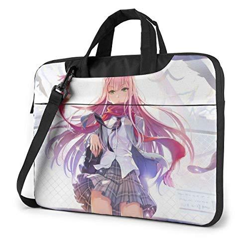 Hdadwy Anime Girl Bolsas para computadora portátil Estuches Protectores para computadora portátil Un Hombro a Prueba de Golpes Oxford Estuche Protector para computadora portátil/Maletín para Tableta