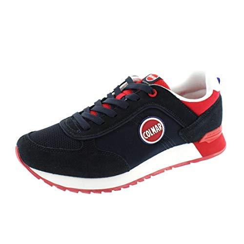 COLMAR Herrenschuhe - Sneaker Travis Colors 003 - Navy red, Schuhgröße:45
