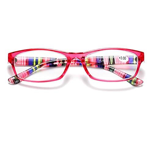 JTeam Gläser Lesebrille Hochwertige Mode Bunt Herren- Und Damenbrille Tolles Geschenk (Color : Pink, Size : 2.50X)