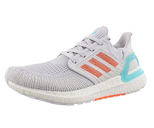 adidas Women's Ultraboost 20 Primeblue Running Shoe, Dark Grey/True Orange/Blue Spirit, 11.5 M US