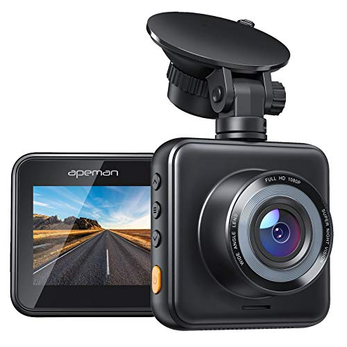 APEMAN Mini Dash Cam 1080P Car Camera Driving Recorder Night Vision, 170° Wide Angle, Motion Detection, Parking Monitoring, G-Sensor, Loop Recording