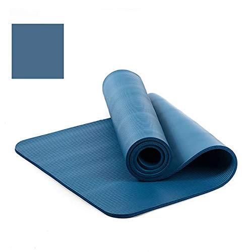 VIWIV Yoga-Matte, rutschfeste Dicke NBR-Yoga-Matte 183 * 61 * 1CM, Geeignet Für Yoga-Pilates-Tanz-Outdoor-Gymnastikmatte,Blau
