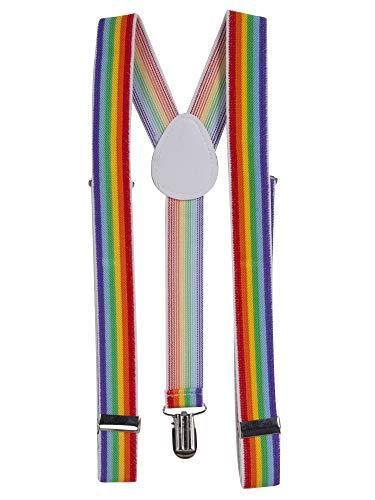 Rainbow Multi Couleur jarretelles élastique