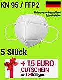 5 Stück - Premium Mund und Nasen Schutz und 15 Euro PCBilliger Gutschein