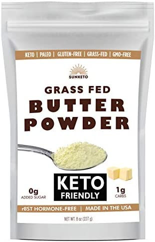 Organic Grassfed Real Butter Powder Keto NON GMO rBST Hormone Free Paleo Low Carb Sugar Free product image