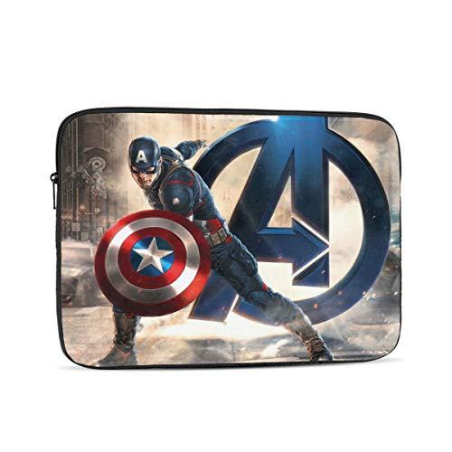 Cap-Tain America Laptop Sleeve Case Tablet Protective Bag for 10in/12in/13in/15in/17in Electronic Products