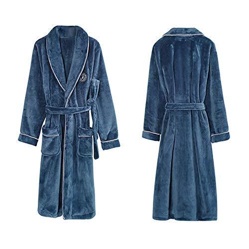 HUAHUA HOMEWEAR Unisex polar de coral traje del kimono caliente grueso camisón femenino Pareja de baño del vestido de la ropa de noche for hombre ropa de dormir grande M-XXXL súper blando Homewear, Ho