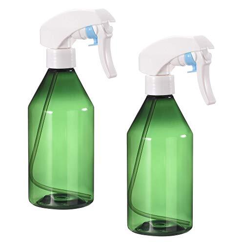 sourcing map, bottiglia spray in plastica, 300 ml, vuota, ricaricabile, verde con spruzzatore a nebbia fine, per soluzione di pulizia e irrigazione delle piante, 2 pezzi