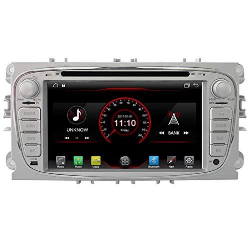 autosion 2+16GB android 10 car Radio stereo autoradio Navigatioin GPS für Ford Mondeo (2007–2011)/Ford S-Max (2008–2012)/Ford Focus (2008–2010)/Ford Galaxy (2010–2012) Wifi Bluetooth Lenkradfernbedienung