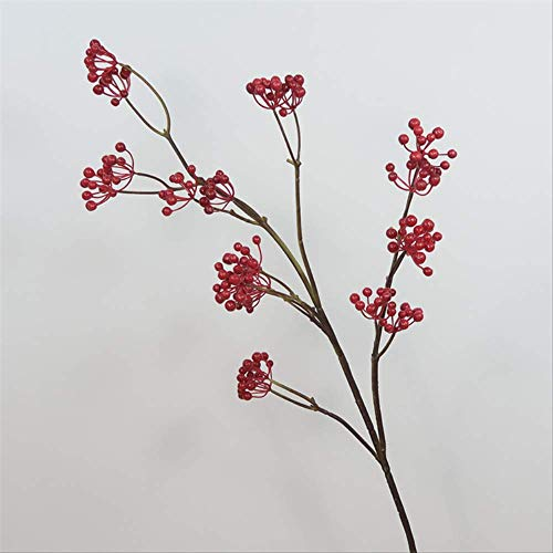 whc0815 Fake Flower Realistic Plant Art Decoration Adecuado para Cualquier ocasion Arreglo Floral de Ebay Longitud Total 129cm Longitud Total de la Fruta 78cm