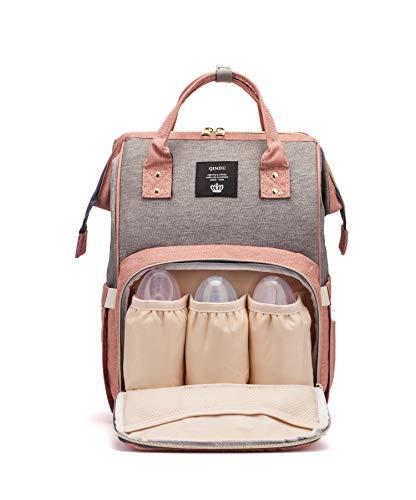 PULUSI 20-35L luiertas rugzak, multifunctionele Oxford waterdichte moederschap baby verpleegkundige luier rugzak voor moeder/vader op reis, groot & stijlvol & duurzaam / 16.5x10.2x6.3