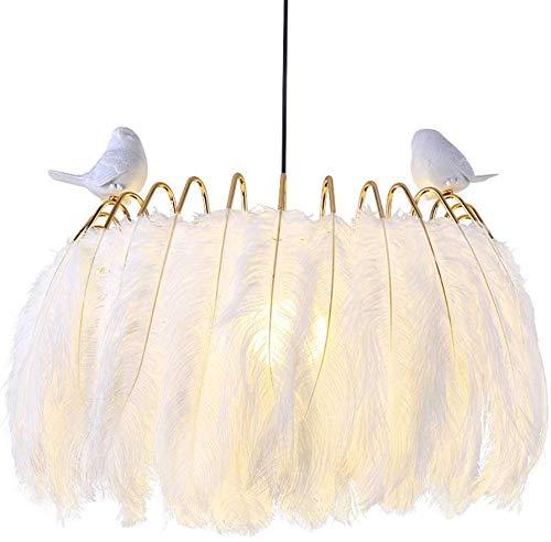 Hao_zhuokun Hanging Lamp Creativo Piuma Tre Colori Dimming LED Lampadario Lampada Decorativa del soffitto Zona Giorno/Notte Lampada a Sospensione Nordic lampadario Moderno Creativo
