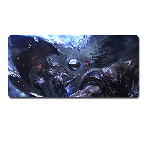 Tappetino Mouse Gaming Grande Mouse Pad XXL, Braum? Shyvana? Yasuo? Orianna Reveck Gaming Pad Mouse Applicare Anime Mouse Pad Large Pad Mouse Gamer Big Mouse Mat da tavolo da tavolo Tappetino da tavol