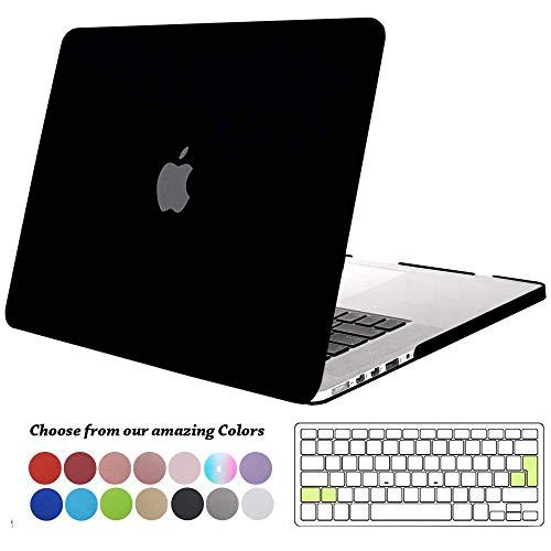 TECOOL Funda para MacBook Pro 13 Pulgadas con Retina Display, Plástico Dura Case Mate Carcasa con Tapa del Teclado para 2013-2015 MacBook Pro 13.3 Pulgada (Modelo: A1502/ A1425) - Negro