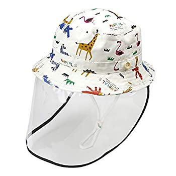 Happy Cherry Kids Face Shield Hat Summer Beach UPF 50 Sun Protection Baby Hats Anti Spitting Dustproof Toddler Bucket Hat