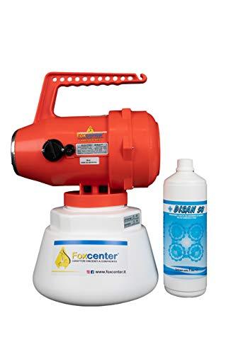 Kit professionale per la sanificazione degli ambienti di lavoro (Nebulizzatore+Disinfettante+Hygienfox 600ml)