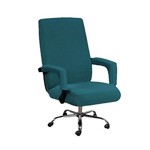 Bürostuhl Bezug Bürostuhlabdeckung Stuhlhussen Drehstuhl Bezug Moderne Stuhl Überzug Sessel Cover Elastische Waschbar Stuhlhussen Set für die Bürostuhl Computer Schreibtischstuhl,mit 2 Armabdeckungen