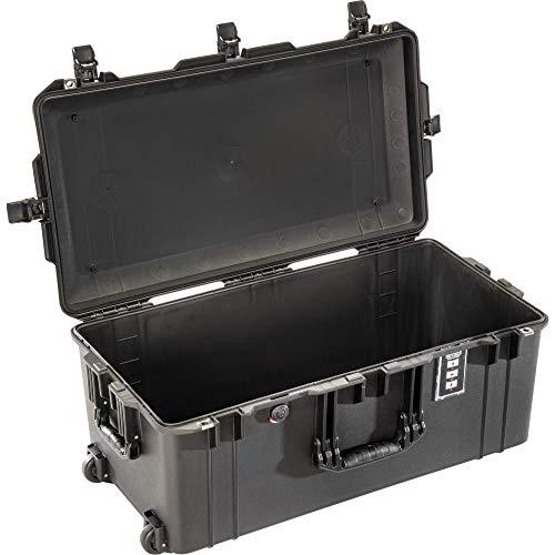 PELI 1626 Air Leichter Langer Koffer mit Rollen für den Transport von Filmausrüstung oder Drohnen, Wasser- und Staubdicht, 76L Volumen, Schaumstoffeinlage, Farbe: Schwarz