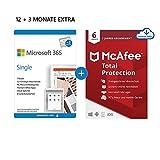 Microsoft 365 Single 12+3 Monate Abonnement | 1 Nutzer | Mehrere PCs/Macs, Tablets und mobile...