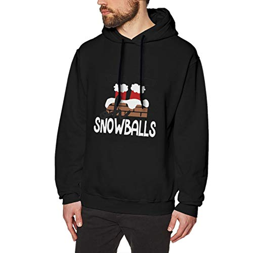 Santa Drills The Chimney Men's Pullover, Easy to Wear and Fashionable, Suitable for All Kinds of Fashionable Menlarge Black