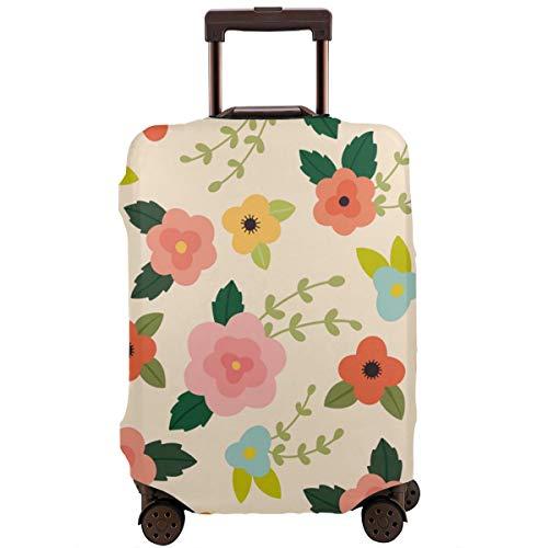 Maleta Protectora Cubierta Vector Patrón Floral Rosa Transparente Maleta Viaje Protector XL