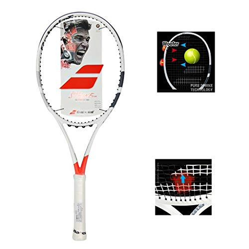 Raquetas De Tenis for Mujer Instinct Junior for Niños Equilibrio Ligero De Cabeza Pre-Cuerda for Principiantes 27 Pulgadas (Color : White-c, Size : 69cm/27 Inches)