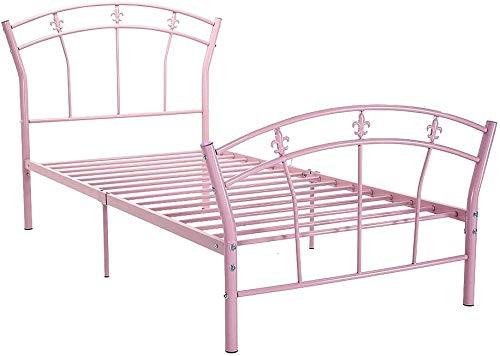 Schlafzimmer Doppelmetallrahmen,Pink-MB03 3FT