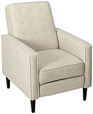 GDFStudio Macedonia Mid Century Modern Tufted Back Fabric Recliner