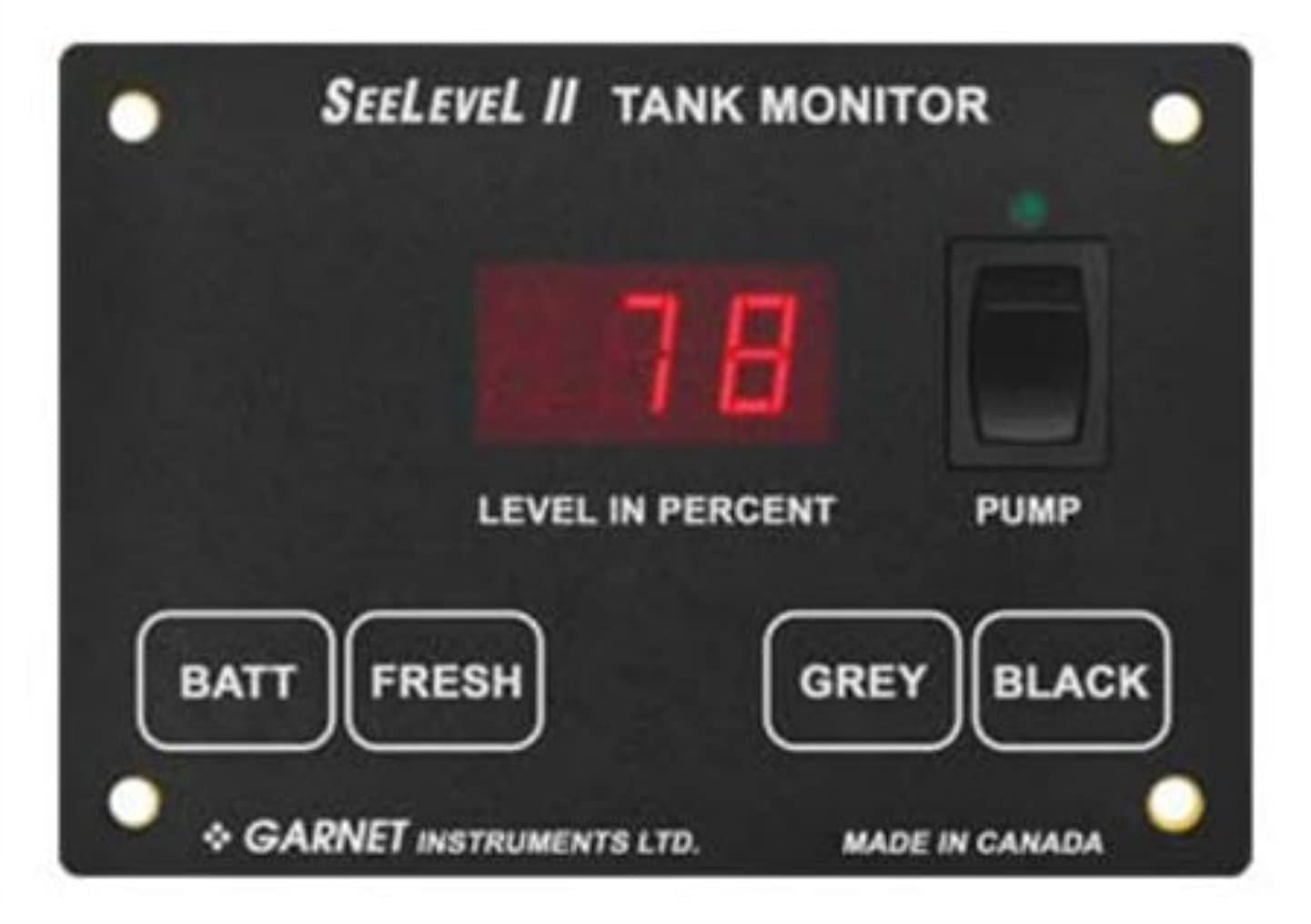 Garnet 709-RVC-PM SeeLevel II Tank Monitoring System with Alarm
