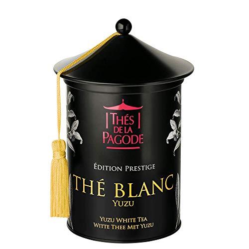 Thés de la pagode - Tè bianco biologico con Yuzu - Edizione Prestige - Tè Bai Mu Dan biologico con corteccia di arancia biologica - Scatola metallica fresca - 100 grammi