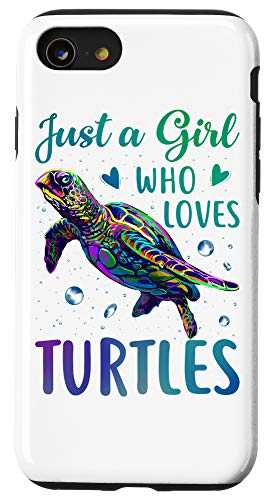 iPhone SE (2020) / 7 / 8 Just A Girl Who Loves Turtles Watercolor Sea Ocean Gift Case