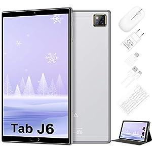 Tablet 10 Pulgadas Android 10.0 - RAM 4GB | ROM 64GB - WiFi - Octa Core (Certificación Google gsm) -JUSYEA Tableta - Batería de 6000mAh —Ratón | Teclado y Otros (Plata)