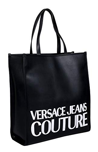 Versace Jeans Couture Black Large Shopper Tote Bag for womens