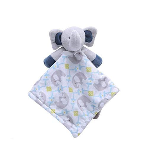 Blue Elephant Blanket jouets pour bébé, Couverture sécurité apaisants Toy douce peluche Jouets Chiffons Teething serviettes bébé et tout-petits - Couverture Consolateur les enfants